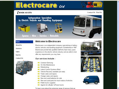 picture of electrocare website
