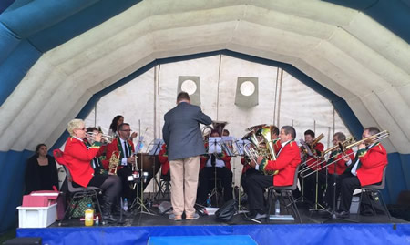 the band in 2017 playing in old sodbury